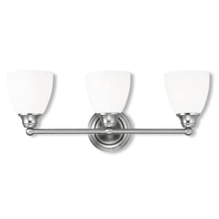 Livex Lighting Somerville Brushed Nickel Steel/Frosted Glass 3-light Bath Light