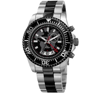 Akribos XXIV Men's Quartz Multifunction Two-Tone Stainless Steel Bracelet Watch