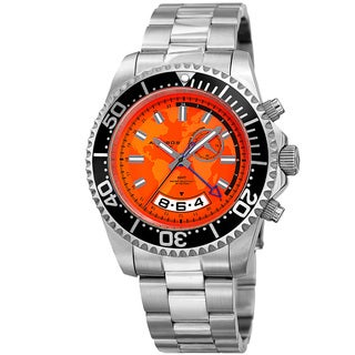 Akribos XXIV Men's Quartz Multifunction Silver-Tone Stainless Steel Bracelet Watch