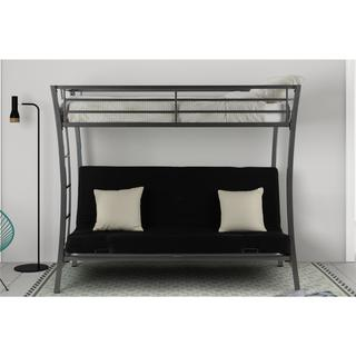 Avenue Greene Metropolis Gunmetal Grey Metal Twin Over Futon Bunk Bed