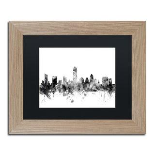 Michael Tompsett 'Austin Texas Skyline B&W' Matted Framed Art