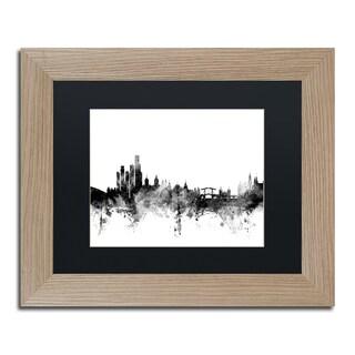 Michael Tompsett 'Amsterdam Skyline B&W' Matted Framed Art