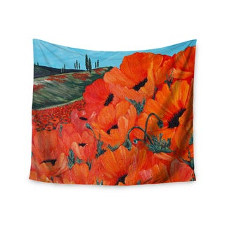 Kess InHouse Christen Treat 'Poppies' 51x60-inch Wall Tapestry