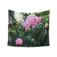 Kess InHouse Chelsea Victoria 'Pink Peonies' 51x60-inch Wall Tapestry
