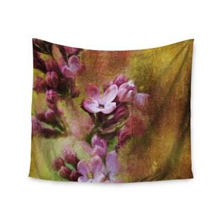 Kess InHouse Ginkelmier 'Lilacs In Yellow' 51x60-inch Wall Tapestry