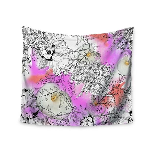 Kess InHouse Danii Pollehn 'Flowerlights' 51x60-inch Wall Tapestry