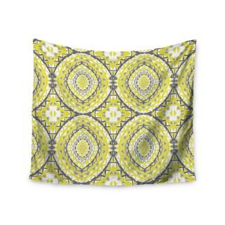 Kess InHouse Miranda Mol 'Yellow Tessellation' 51x60-inch Wall Tapestry