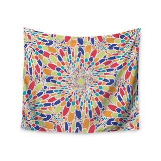 Kess InHouse Miranda Mol 'Flourishing Blue' 51x60-inch Wall Tapestry