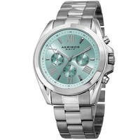 Akribos XXIV Women's Quartz Multifunction Stainless Steel Silver-Tone Bracelet Watch with FREE Bangle