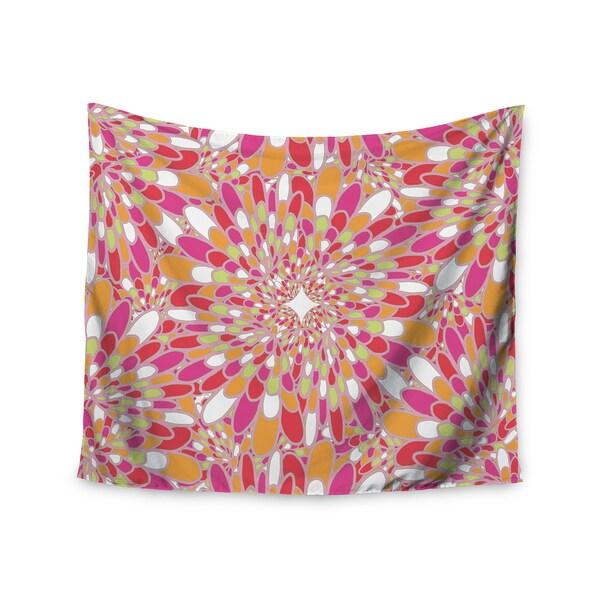 Kess InHouse Miranda Mol 'Flourishing Pink' 51x60-inch Wall Tapestry