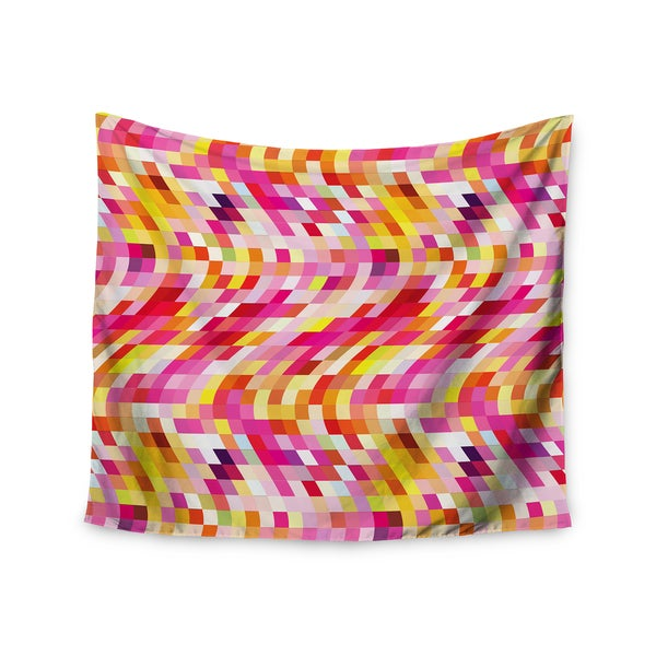 Kess InHouse Dawid Roc 'Colorful Geometric Movement 2' 51x60-inch Wall Tapestry