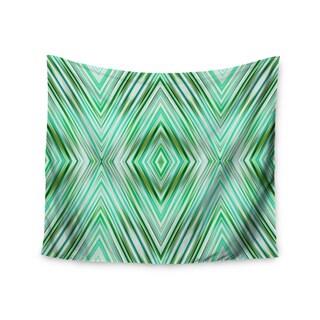 Kess InHouse Dawid Roc 'Green Mint Modern Ethnic' 51x60-inch Wall Tapestry