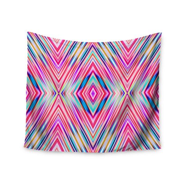 Kess InHouse Dawid Roc 'Pink Modern Tribal Ethnic Ikat' 51x60-inch Wall Tapestry