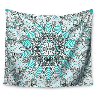 Kess InHouse Monika Strigel 'Dots and Stripes Mint' 51x60-inch Wall Tapestry
