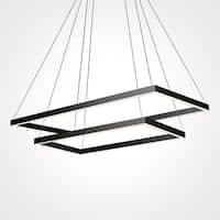 VONN Lighting VMC31710BL Atria Duo 29-inch Integrated LED Chandelier in Black