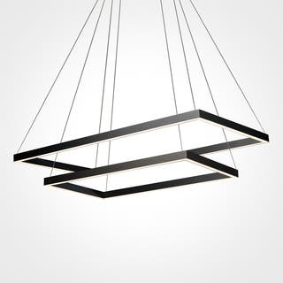 Buy sloped ceiling adaptable chandeliers online at overstock vonn lighting vmc31710bl atria duo 29 inch integrated led chandelier in black aloadofball Gallery