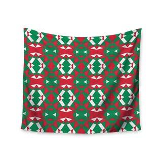 Kess InHouse Empire Ruhl 'Christmas Geo' 51x60-inch Wall Tapestry