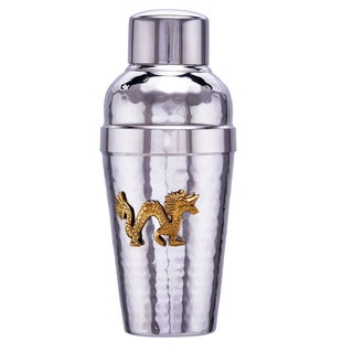 Old Dutch Dragon Silver Stainless Steel Medallion Cocktail Shaker