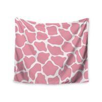 Kess InHouse Wildlife 'Pink Animal Print 11' 51x60-inch Wall Tapestry