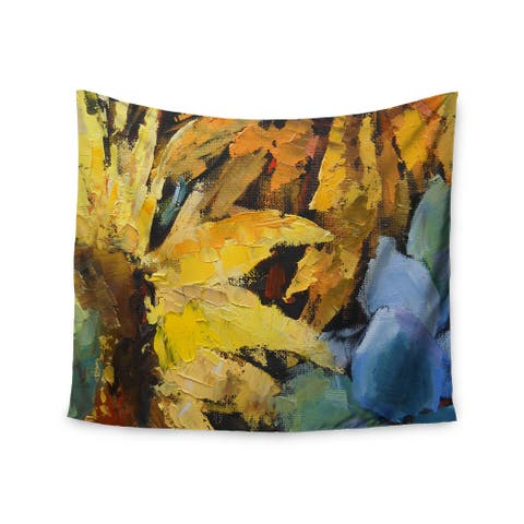 Kess InHouse Carol Schiff 'Sunflowers And Hydrangea' 51x60-inch Wall Tapestry