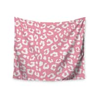 Kess InHouse Wildlife 'Pink Animal Print 1' 51x60-inch Wall Tapestry