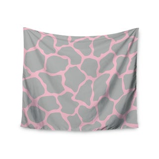 Kess InHouse Wildlife 'Pink Animal Print 9' 51x60-inch Wall Tapestry