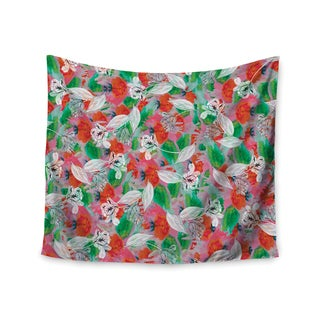 Kess InHouse Akwaflorell 'Flying Tulips' 51x60-inch Wall Tapestry