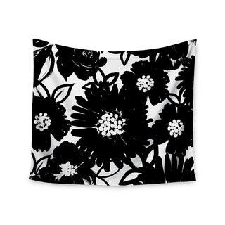 Kess InHouse Emine Ortega 'Monochromatic Blooms' 51x60-inch Wall Tapestry