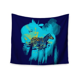 Kess InHouse Frederic Levy-Hadida 'Watercolored Blue' 51x60-inch Wall Tapestry