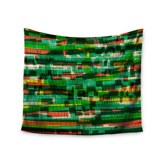 Kess InHouse Frederic Levy-Hadida 'Squares Traffic Green' 51x60-inch Wall Tapestry