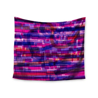 Kess InHouse Frederic Levy-Hadida 'Squares Traffic Pink' 51x60-inch Wall Tapestry
