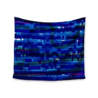 Kess InHouse Frederic Levy-Hadida 'Squares Traffic Blue' 51x60-inch Wall Tapestry