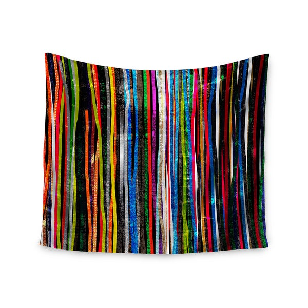 Kess InHouse Frederic Levy-Hadida 'Fancy Stripes Dark' 51x60-inch Wall Tapestry