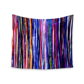 Kess InHouse Frederic Levy-Hadida 'Fancy Stripes Purple' 51x60-inch Wall Tapestry