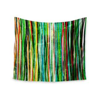 Kess InHouse Frederic Levy-Hadida 'Fancy Stripes Green' 51x60-inch Wall Tapestry