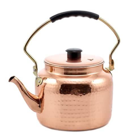 Hammered Copper Stainless Steel 2-quart Tea Kettle