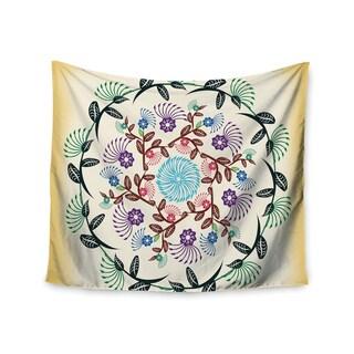 Kess InHouse Famenxt 'Nature Mandala' 51x60-inch Wall Tapestry