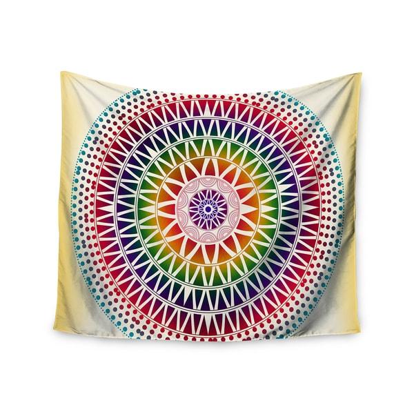 Kess InHouse Famenxt 'Colorful Vibrant Mandala' 51x60-inch Wall Tapestry