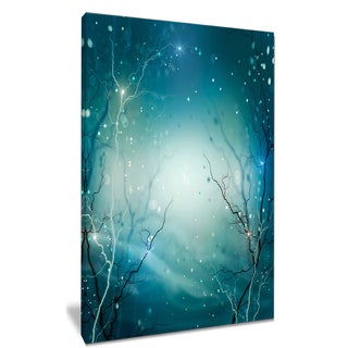 Blue Winter Fantasy Forest - Landscape Photo Canvas Art Print