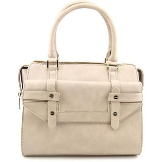 Danielle Nicole Women's Olina Satchel Grey Faux Leather Handbag