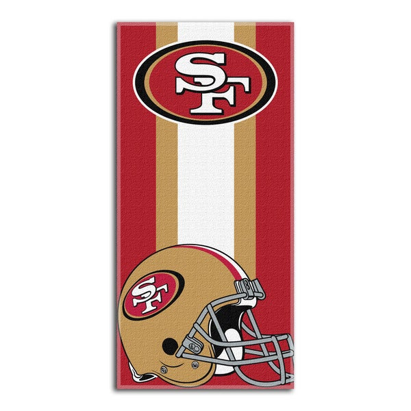 NFL 720 49ers Zone Read Beach Towel