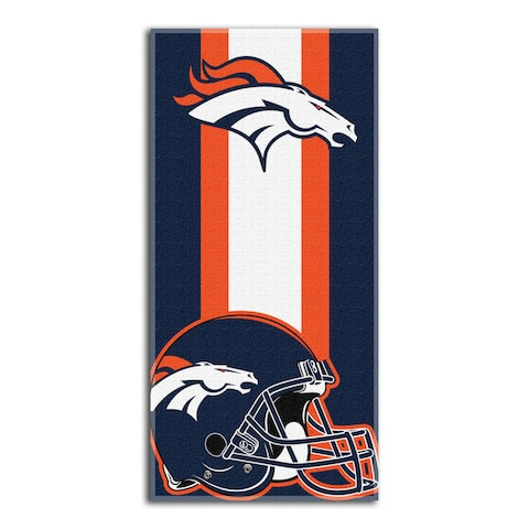 NFL 720 Broncos Zone Read Beach Towel