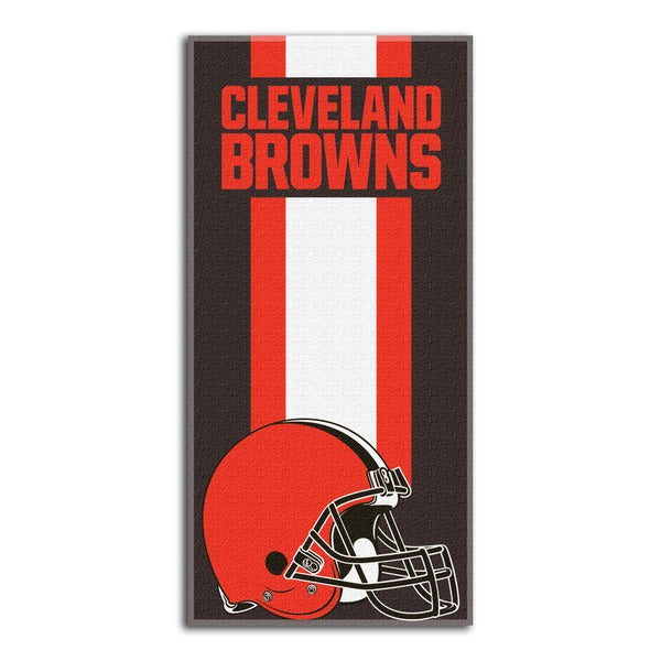 NFL 720 Browns Zone Read Beach Towel