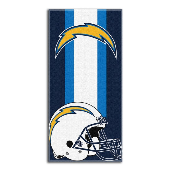 NFL 720 Chargers Zone Read Beach Towel
