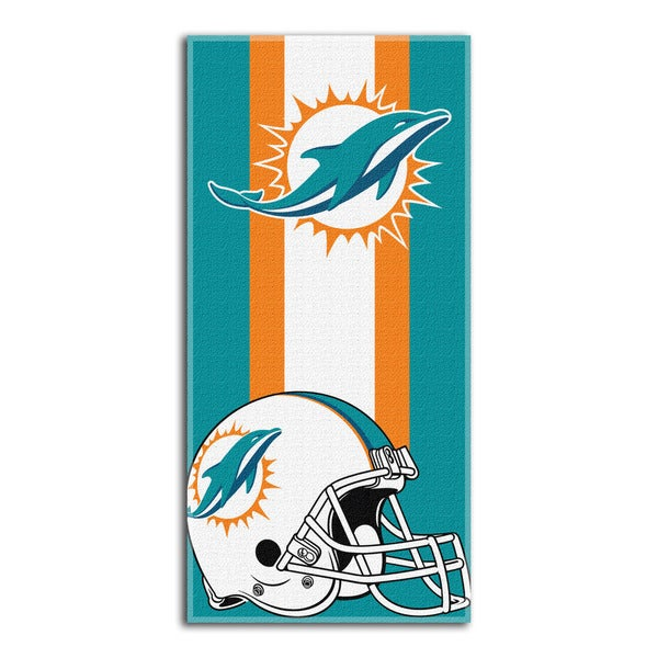NFL 720 Dolphins Zone Read Beach Towel