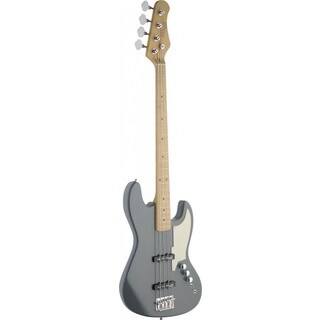 Stagg SBJ-50 MGRE Custom 'J' Style Metallic Grey Electric Bass Guitar