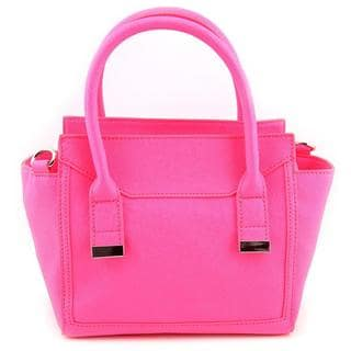 Danielle Nicole Women's Alia Mini Satchel Pink Faux-leather Handbag