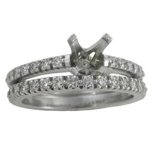 14k White Gold 3/5ct TDW Diamond Wedding Set (No Center Stone)