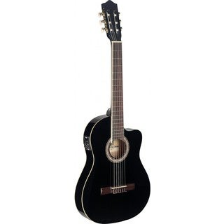Stagg C546TCE BK Black Thin Body Cutaway Acoustic-electric Classical Guitar