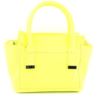 Danielle Nicole Women's Alia Mini Satchel Yellow Faux Leather Handbag